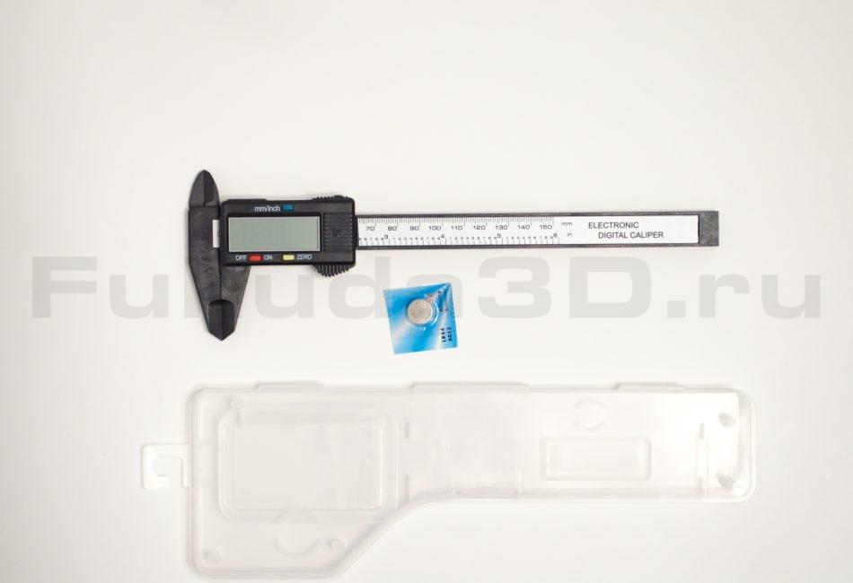 Пластиковый электронный штангенциркуль с кейсом