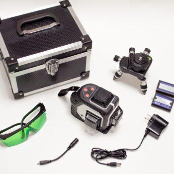 Лазерный уровень с зеленым лучом Kaitian 3D полный комплект на фото