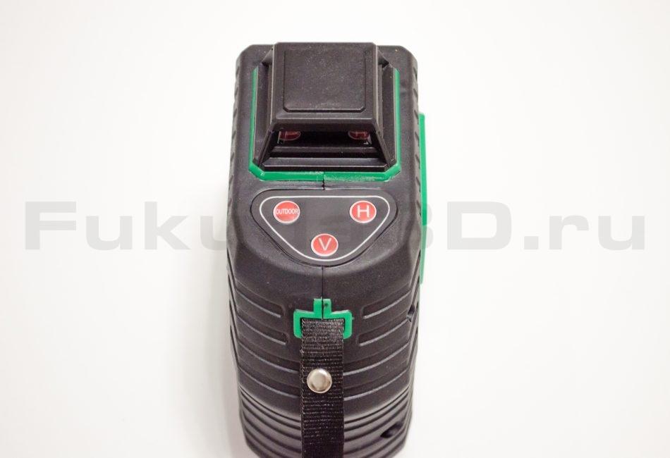 Лазерный уровень Kaitian 2D зеленый луч вид сверху