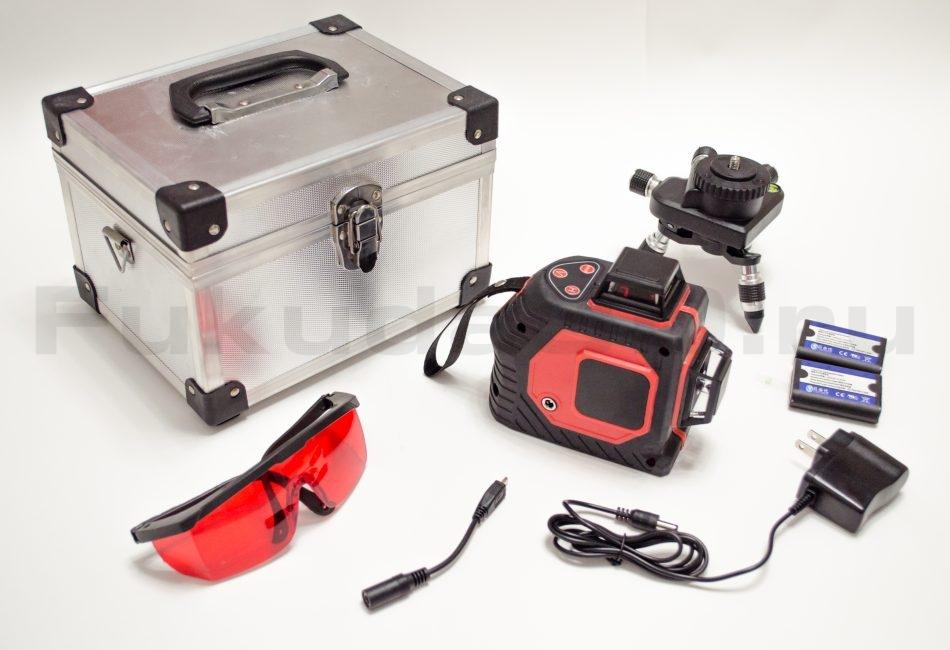 Что входит в комплект лазерного уровня 2D с красным лучом фото