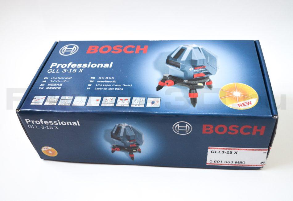 Оригинальная упаковка лазерного нивелира Bosch GLL 3-15 X