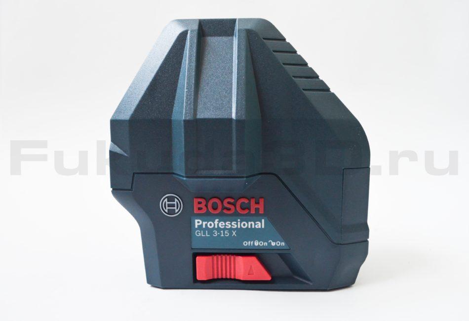 Тумблер блокировки маятника на нивелире Bosch GLL 3-15 X Professional