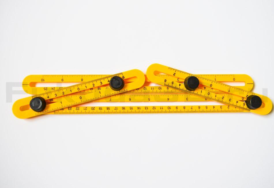 Линейка шаблон для быстрой разметки и переноса любой формы и углов.