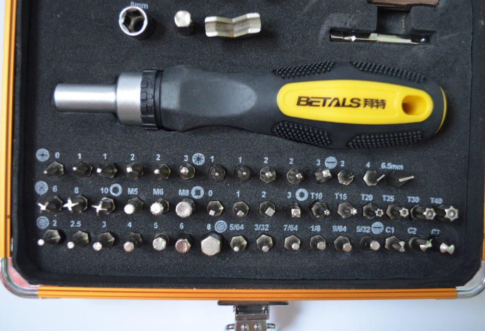 Профессиональный набор отверток Betals 92 в 1 с отверткой с трещоткой