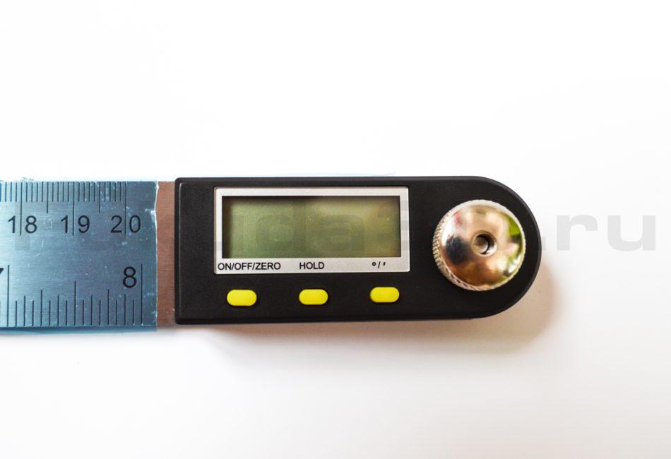 Электронный угломер (транспортир) 200 мм - дисплей цифровой
