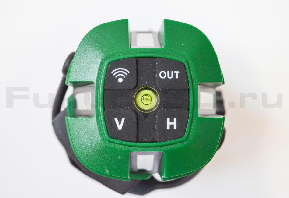 Панель управления лазерного уровня с зеленым лучом