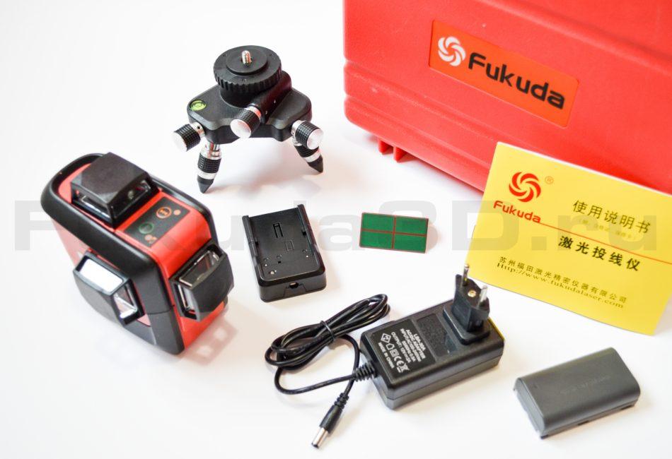 Fukuda 3D Li-ion с зеленым лучом - комплект поставки
