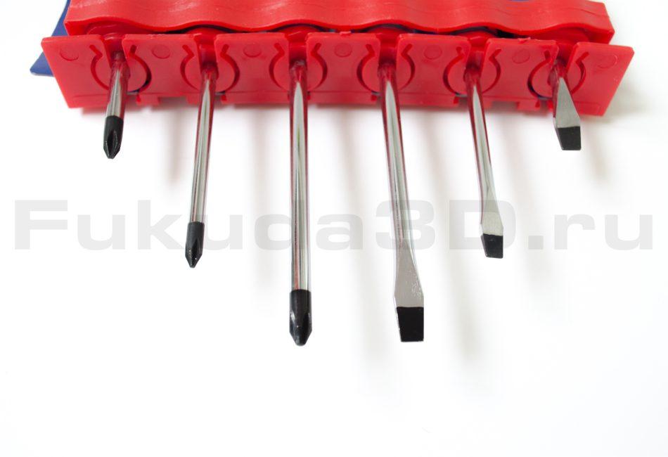 Отвертки WORKPRO 6 штук с магнитным наконечником