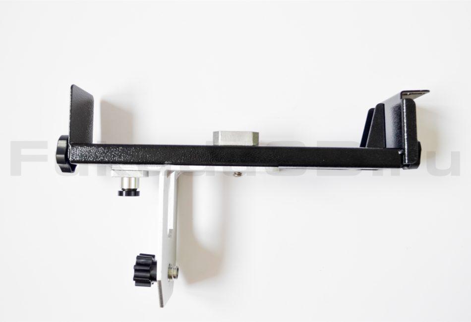 Кронштейн для лазерного уровня полностью металлический с плавной регулировкой и прищепкой