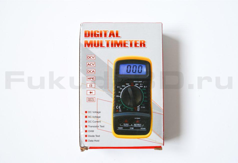Упаковка мультиметра XL830L