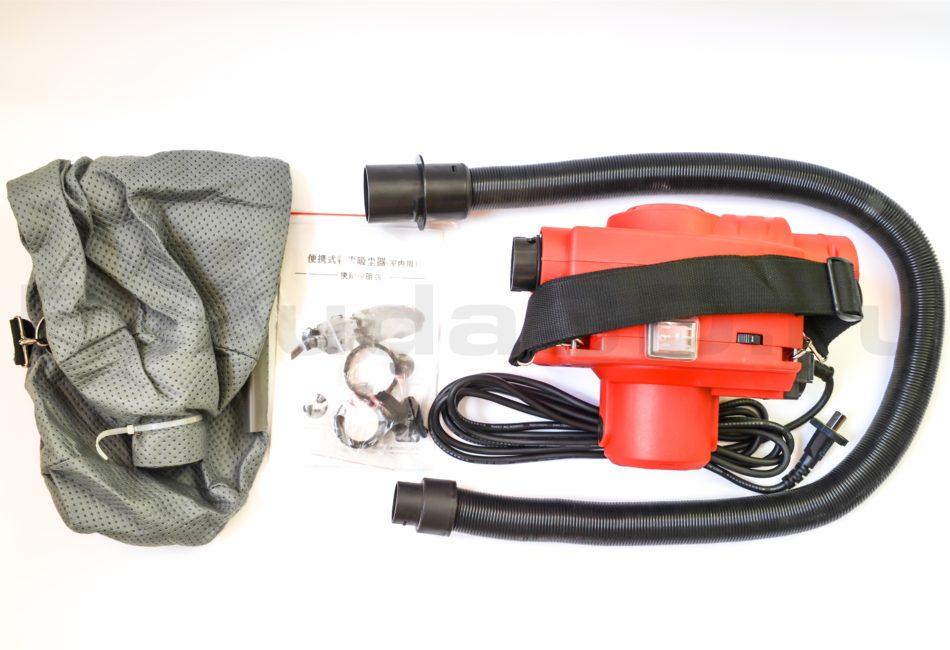 Мини строительный пылесос мощностью 800W для подключения к инструменту