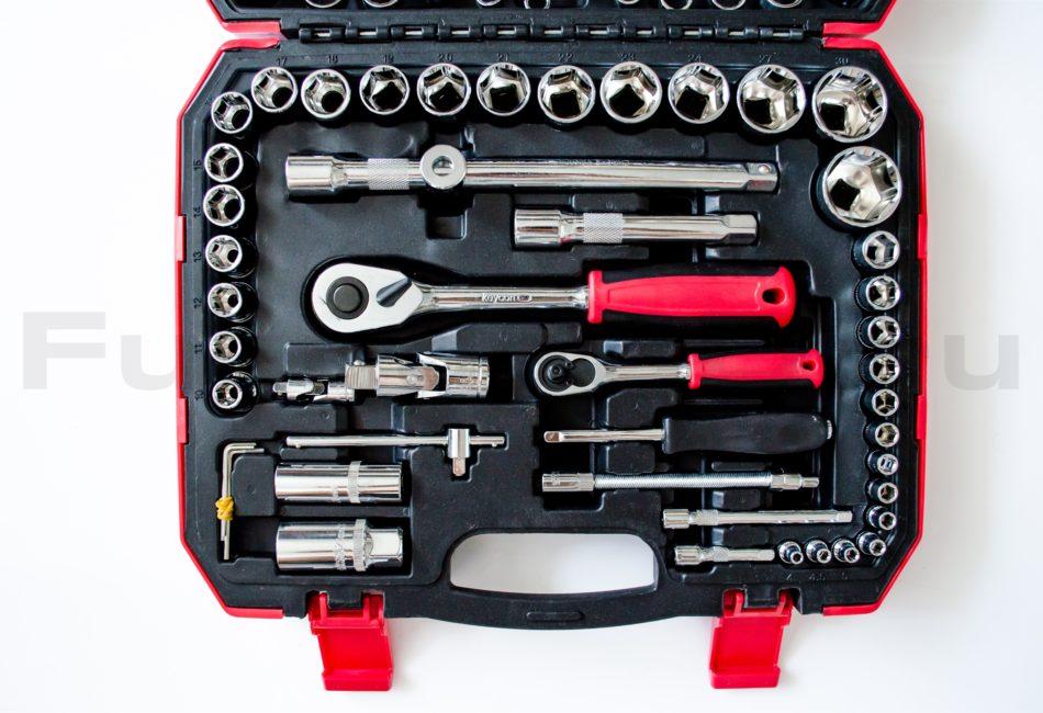 Качественный набор инструментов из 61 предмета от компании Keycon