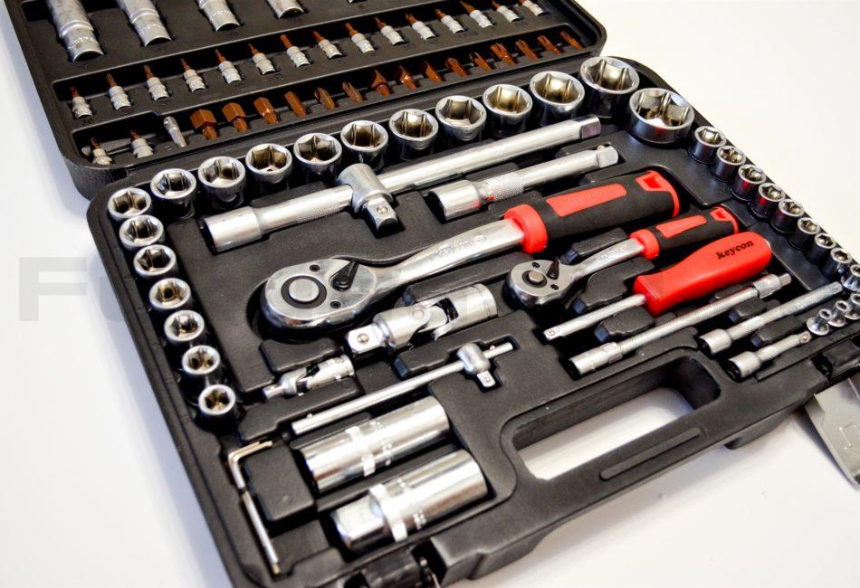 Набор инструментов Keycon 94 предмета с тремя трещотками