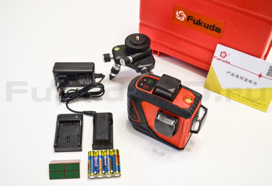 Комплект поставки оригинального лазерного уровня FUKUDA 3D
