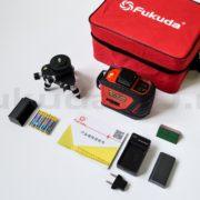 Комплект поставки лазерного нивелира Fukuda 3D MW-93T-2-3R — фото 2