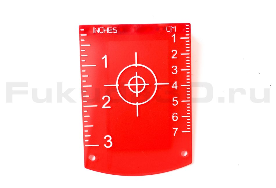 Мишень для лазерного нивелира (красная)