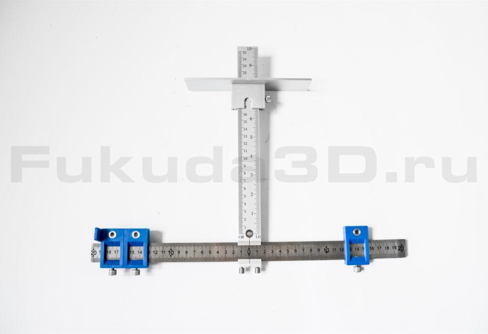 Металлический шаблон для установки с сверлении ручек