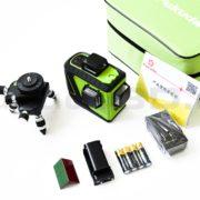 Оригинальный лазерный уровень Fukuda 3D MW-93T-2-3GJ с зеленым лучом