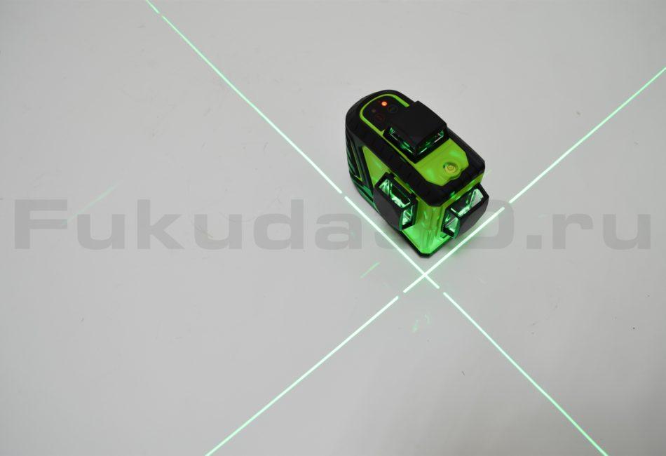 Лазерный нивелир Fukuda 3D MW-93T-2-3GX синий луч
