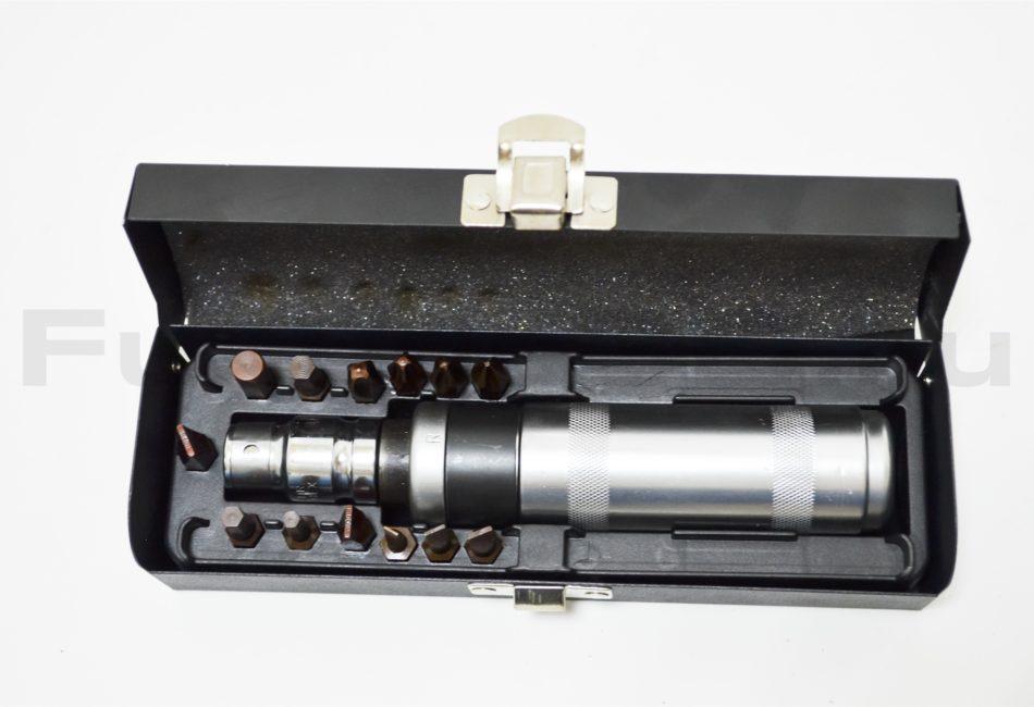 Профессиональная ударная отвертка с набором усиленных бит