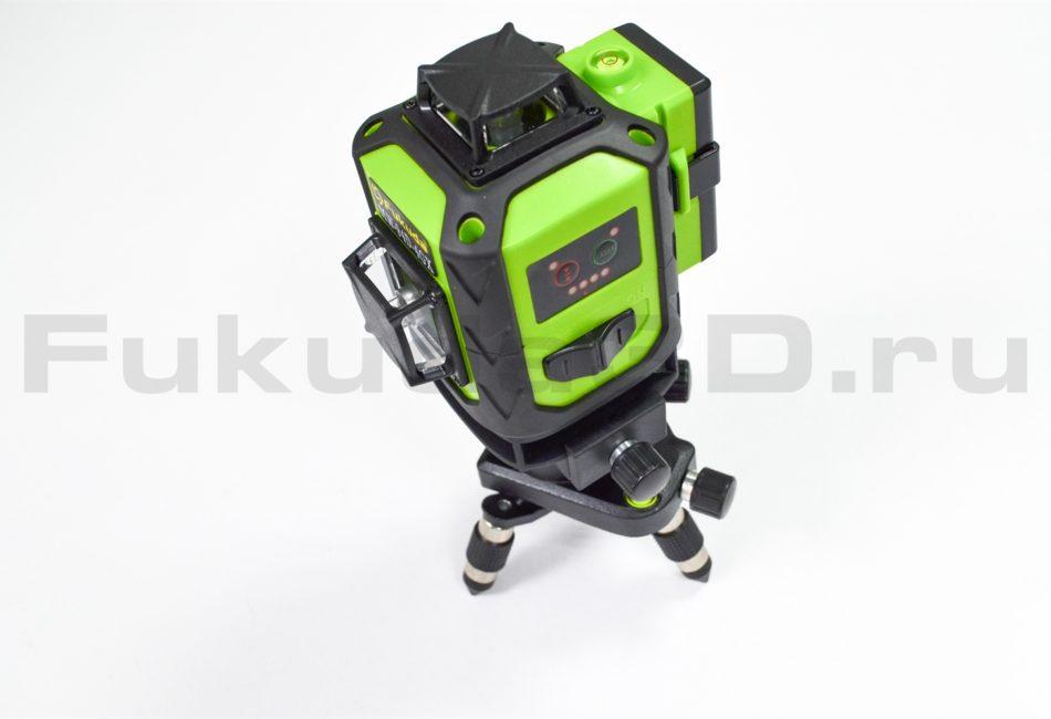 Лазерный уровень Fukuda 4D модель MW-94D-4GX (16 линий) с мини-треногой