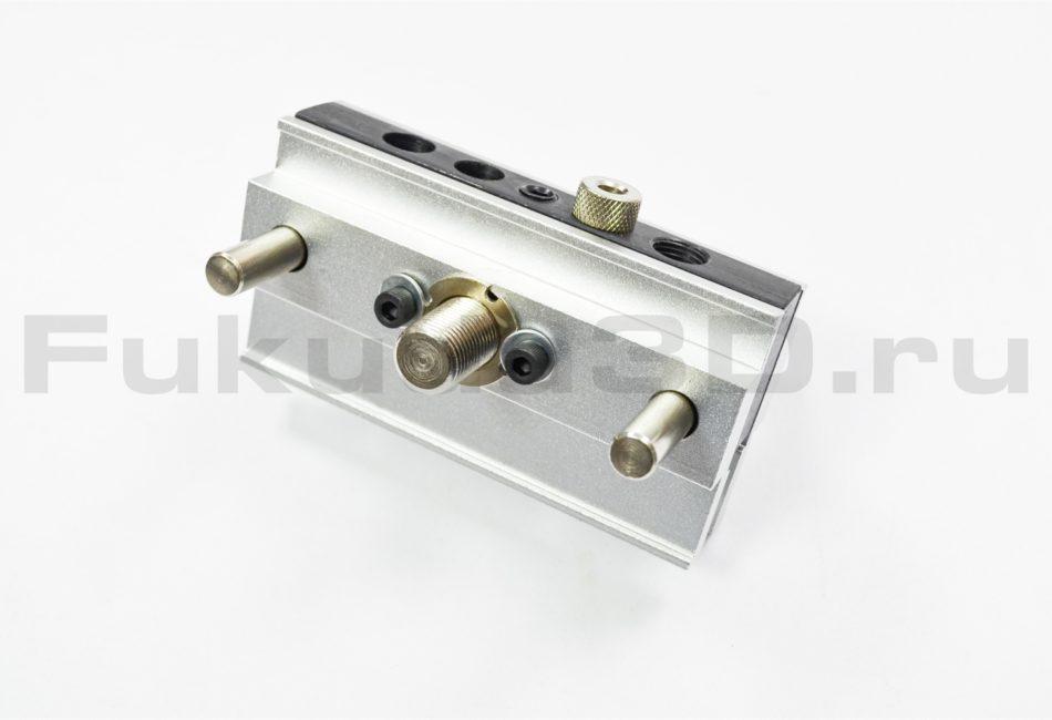 Мебельный кондуктор для сверления отверстий в торец под шкант