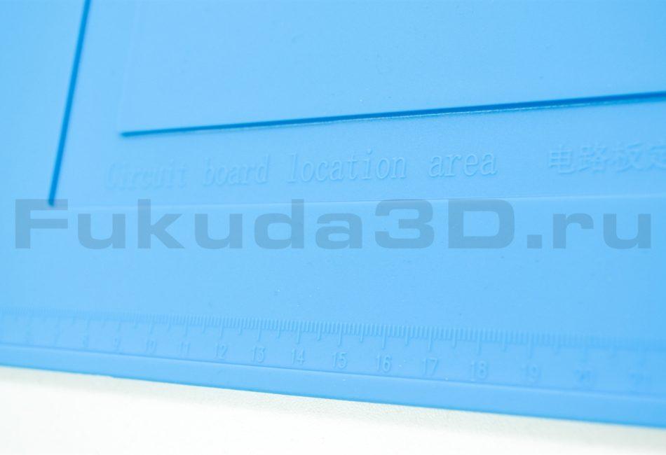 Термостойкий силиконовый коврик для пайки с линейкой