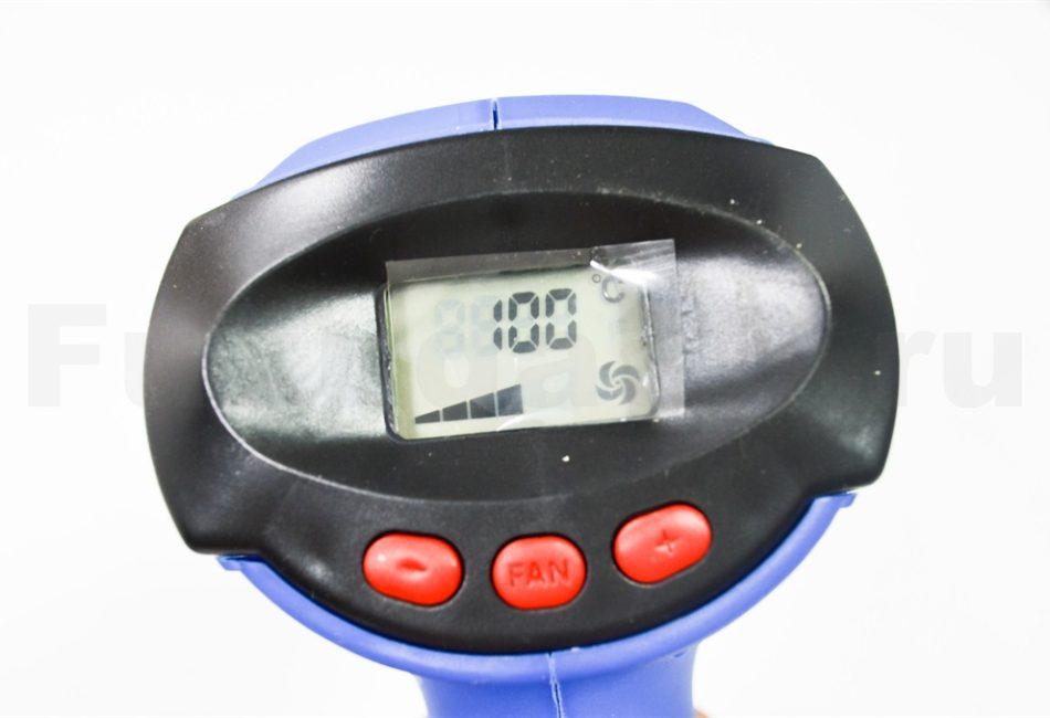 Строительный фен BOKER BK986 - дисплей и управление