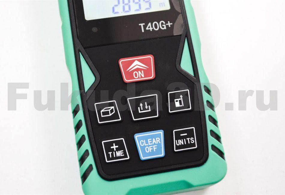 Лазерный дальномер THINRAD T40G+ управление, кнопки прорезинены