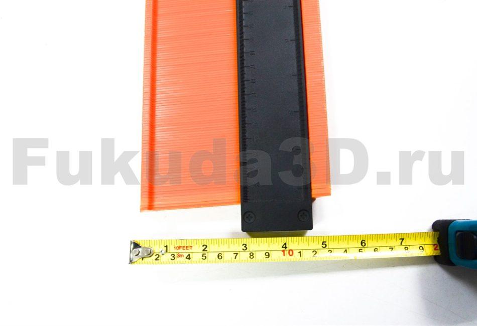 Профессиональный контурный шаблон с фиксацией 250 мм