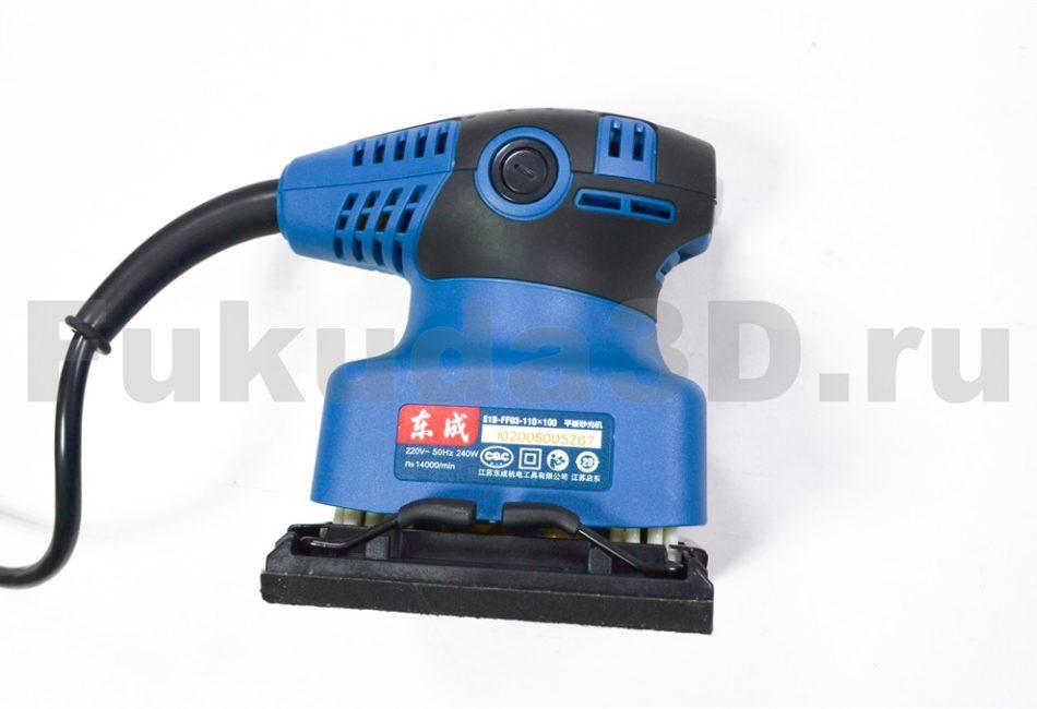 Профессиональная вибрационная шлифовальная машина Dongcheng (110x100)