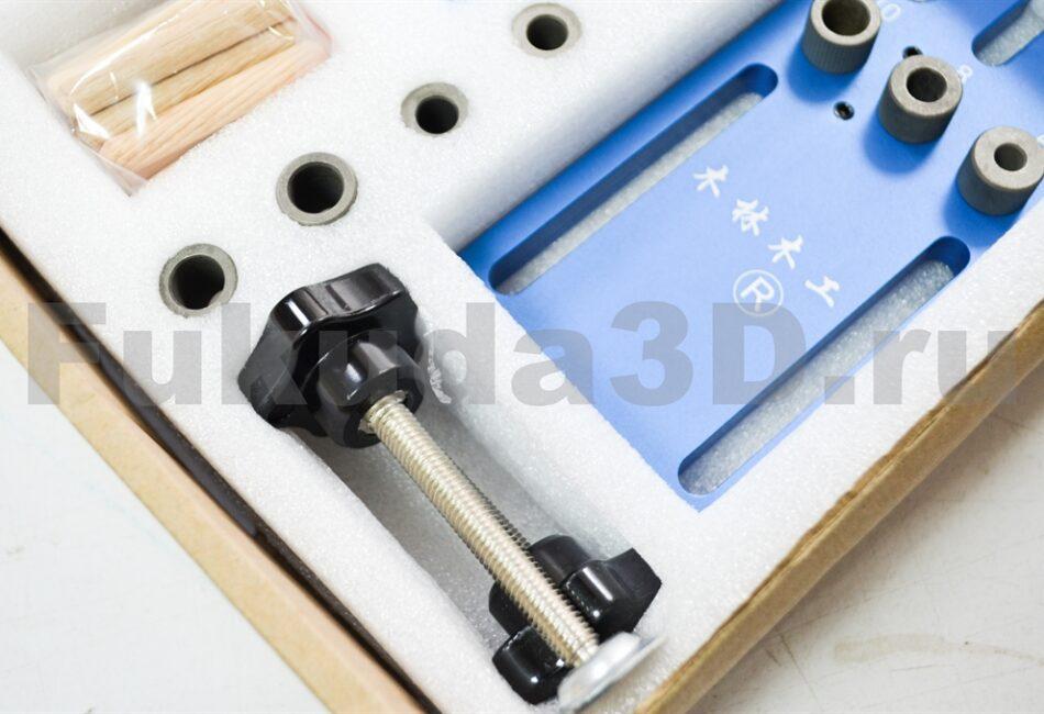 Мебельный кондуктор для шкантов и MINIFIX (мебельная стяжка) со струбцинами