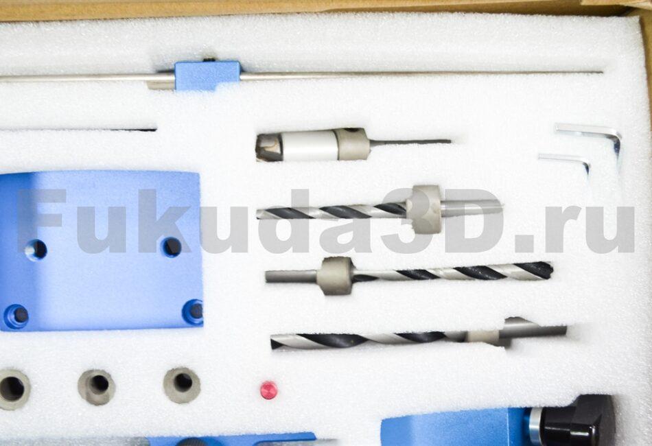 Мебельный кондуктор для шкантов и MINIFIX (мебельная стяжка) сверла в комплекте