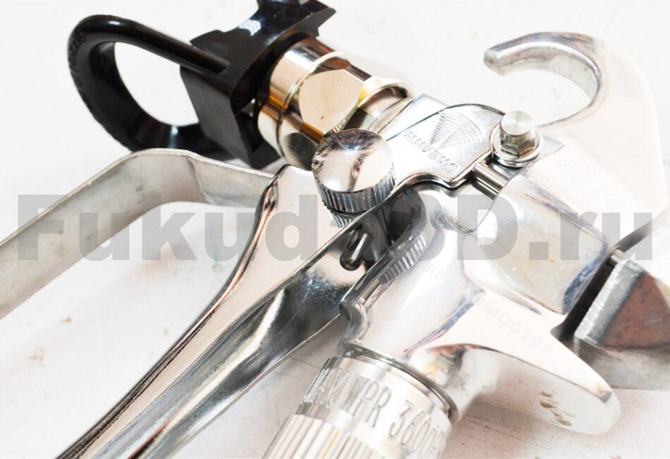 Профессиональный безвоздушный окрасочный пистолет с фиксатором случайного нажатия