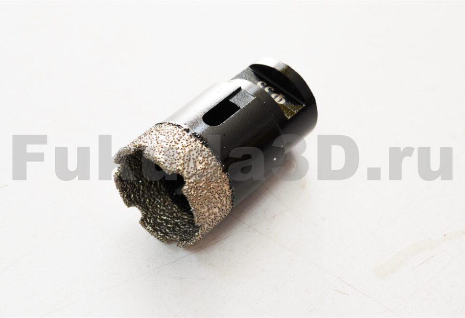 Алмазные коронки по керамограниту для сухого сверления с вакуумной пайкой 35 мм