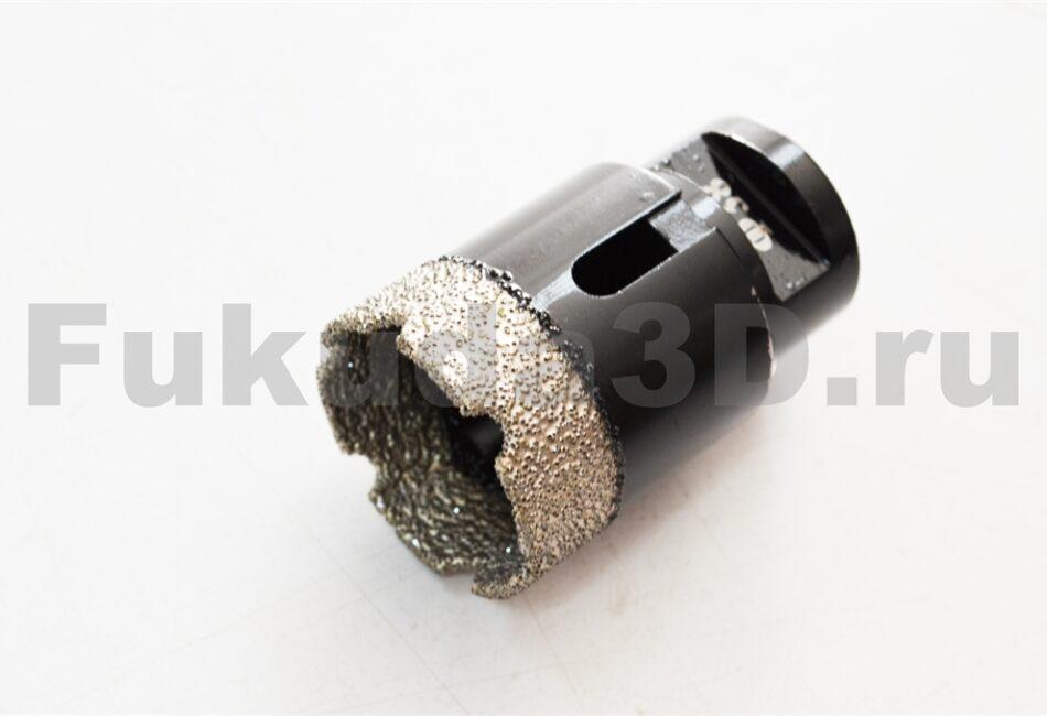 Алмазные коронки по керамограниту для сухого сверления с вакуумной пайкой 38 мм купить