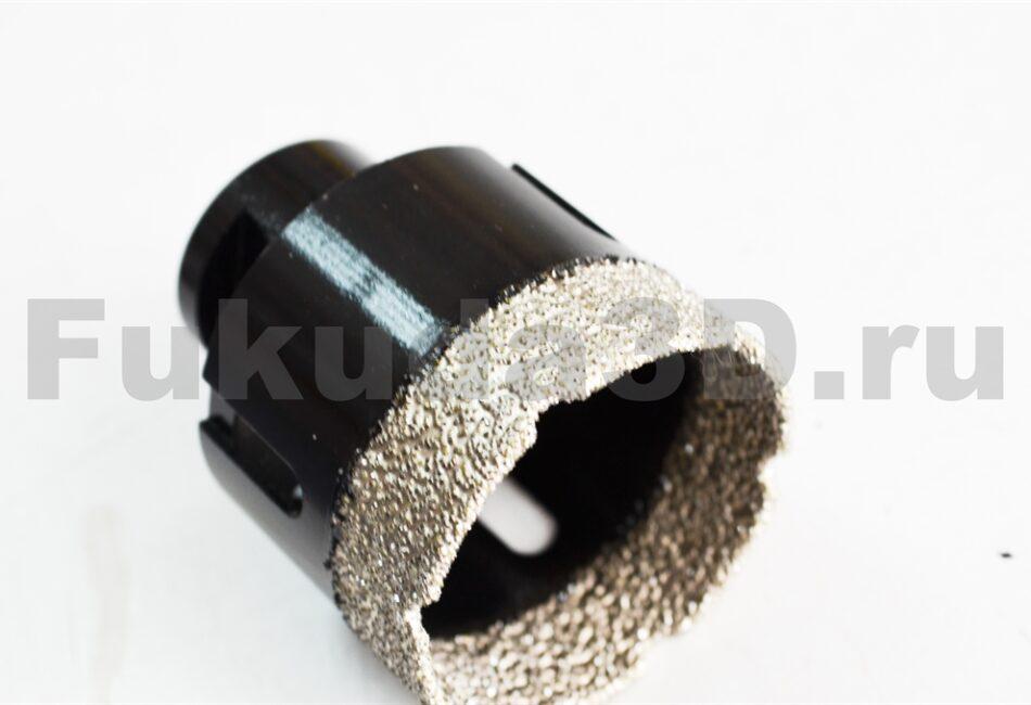 Алмазные коронки по керамограниту для сухого сверления с вакуумной пайкой 50 мм купить