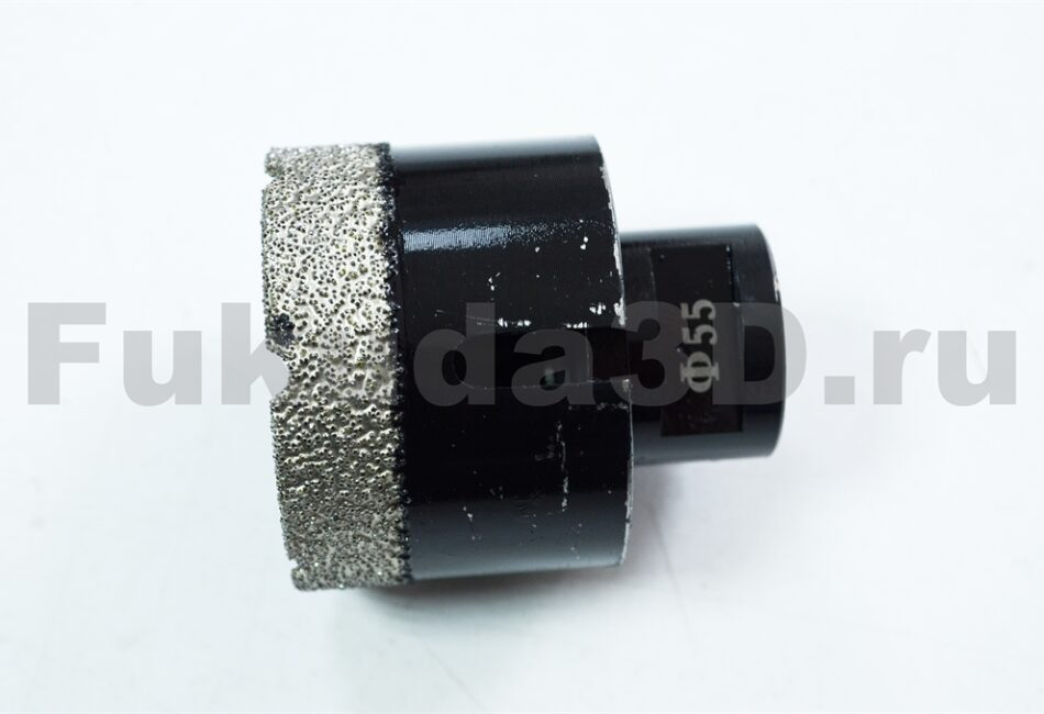 Алмазные коронки по керамограниту для сухого сверления с вакуумной пайкой купить 55 мм