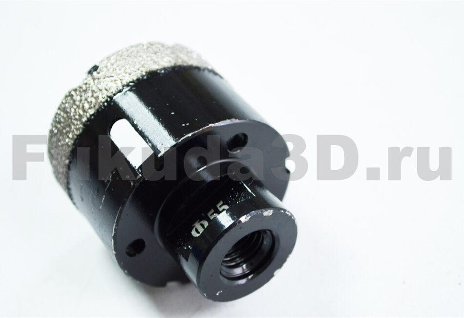 Алмазные коронки по керамограниту для сухого сверления с вакуумной пайкой купить 55 мм М14