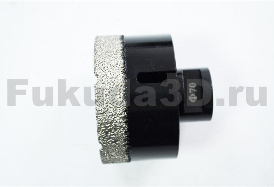 Алмазные коронки по керамограниту для сухого сверления с вакуумной пайкой для УШМ