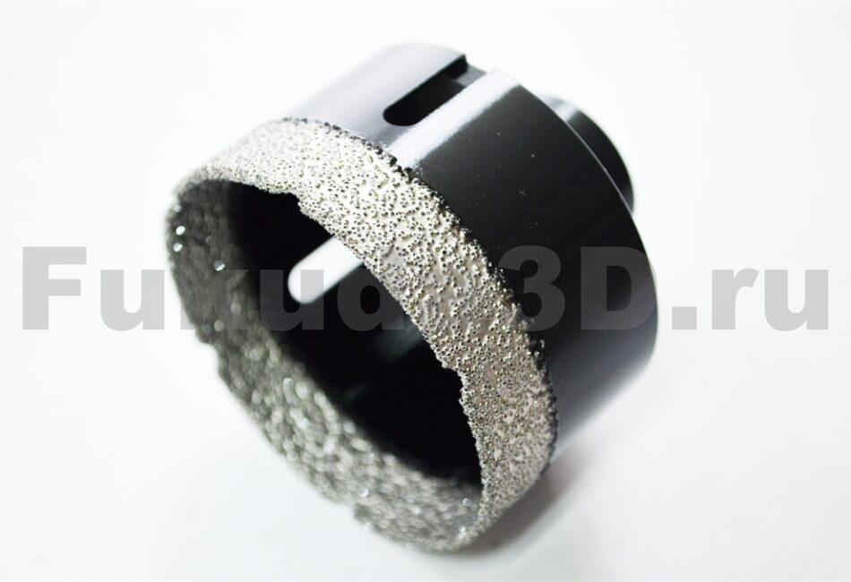 Алмазные коронки по керамограниту для сухого сверления с вакуумной пайкой для УШМ фото