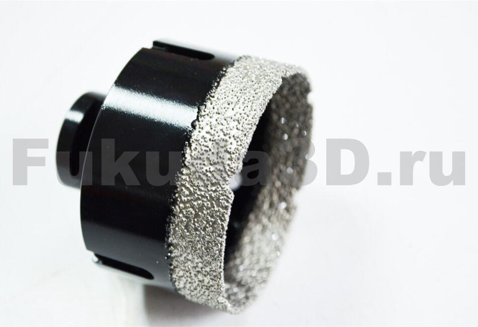 Алмазные коронки по керамограниту для сухого сверления с вакуумной пайкой для болгарки