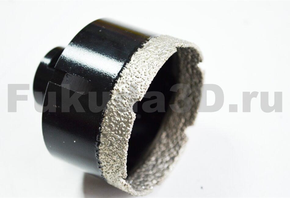 Алмазные коронки по керамограниту для сухого сверления с вакуумной пайкой для подрозетников 68 мм купить