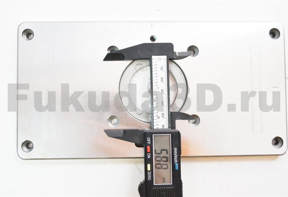 Пластина для установки фрезера в стол крепеж