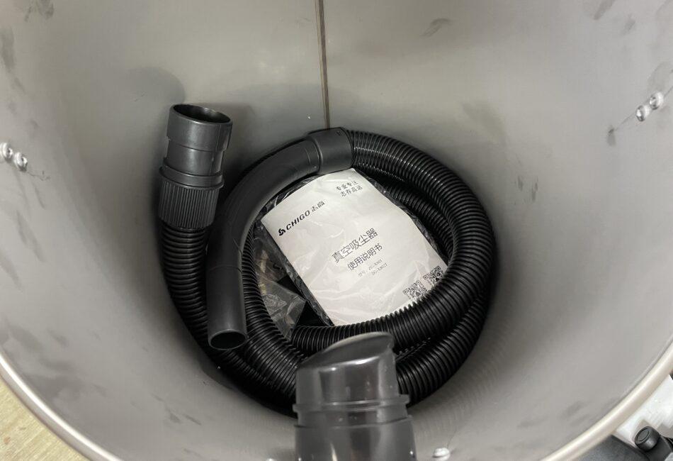 Мощный строительный пылесос без мешков CHIGO 35L (1800W) длинный шланг